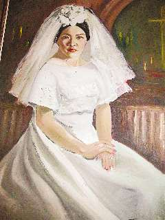 陳輝泗為上官曉玲親手畫的油畫。